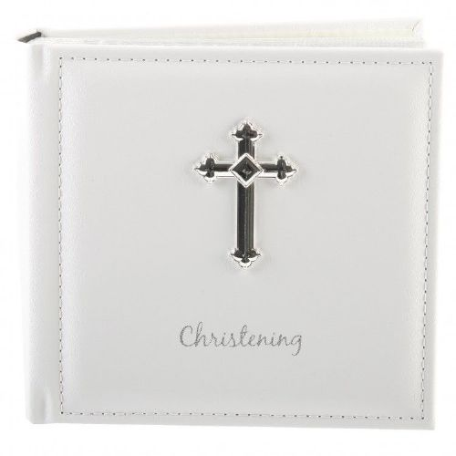 Christening Album with Silver Cross